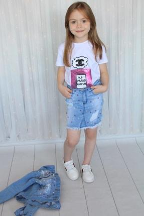 Öyküm Moda Kids Kız Çocuk Kot 3'lü Kombin Takım 1