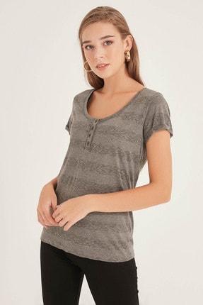 Kadın Grı T-Shirt 20250119053