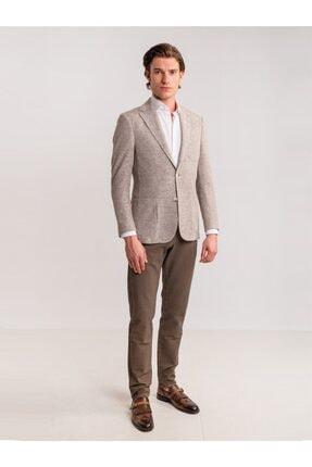 Dufy Erkek Kahverengi Toprak Armür Pamuk Likra Karışımlı Pantolon 2