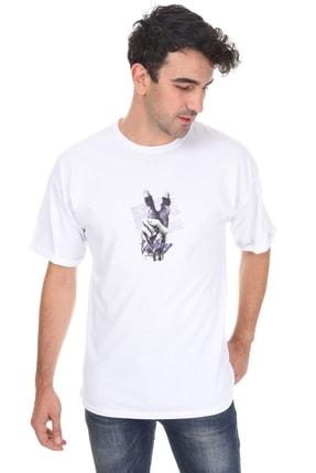 Millionaire Unisex  Beyaz Victory Oversize T-shirt 1