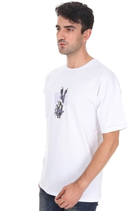 Millionaire Unisex  Beyaz Victory Oversize T-shirt 2