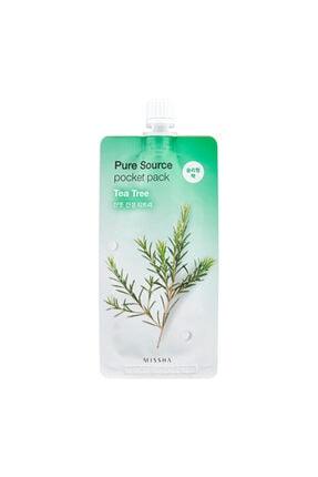 Missha Sivilceli Ciltler İçin Çay Ağacı Yağı Uyku Maskesi 10ml Pure Source Pocket Pack Tea Tree 0