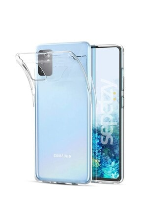 sepetzy Samsung Galaxy S20 Plus Şeffaf Kılıf Clear Silikon Kapak 0