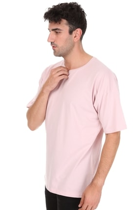 Millionaire Düz Pembe Oversize Unisex T-shirt 3