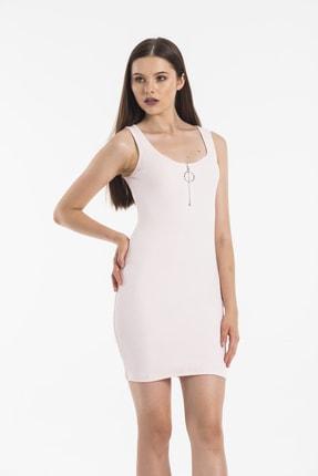 Paris Butik Kadın Pembe Elbise 0