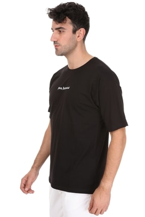 Millionaire Unisex  Siyah Stay Antisocial Oversize T-shirt 2