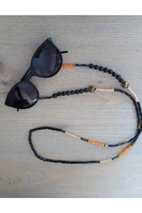 Trend Republic Siyah Turuncu Boncuklu Gözlük Ipi 0