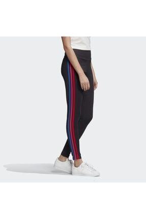 adidas Kadın Siyah  Adicolor 3d Trefoil Leggings Tayt 3