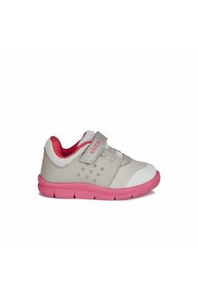 Vicco Kız Çocuk Gri Fuşya Mario  Spor Ayakkabı 1
