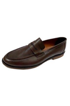KİBPOLO Erkek Kahverengi 3204 Hakiki Deri Loafer Ayakkabı 0