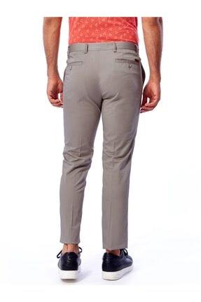 Dufy Gri Büyük Beden Düz Pamuklu Saten Erkek Pantolon - Battal 3