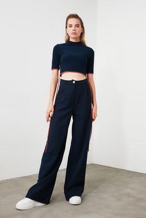 TRENDYOLMİLLA Lacivert Bağlama Detaylı Örme Bluz TWOSS20BZ0156 4