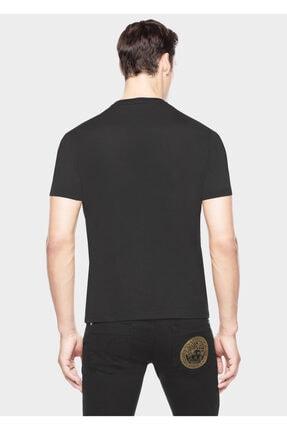 ITALIAN Versace Medusa Head Embossed Model Erkek T-shırt - Siyah 1