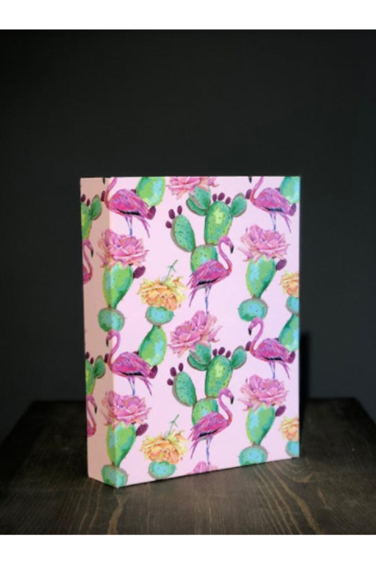 Household Flamingo Temalı Dekoratif Kitap Kutu