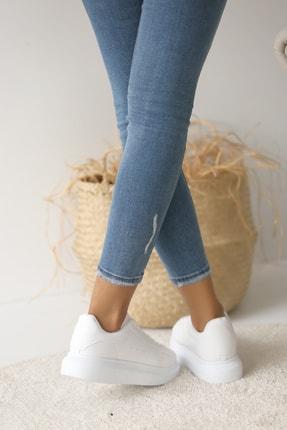 Pembe Potin Kadın Beyaz Ayakkabı 2