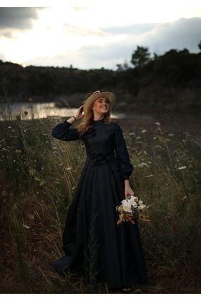 MY DREAMS COLLECTİON Kadın Lacivert Duru Abiye 1