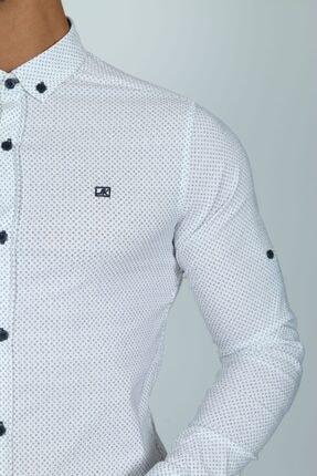 JİYAN Erkek Beyaz Uzun Kol Gömlek 3