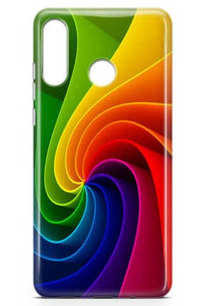 Lopard Huawei Nova 4e Kılıf Rüzgar Gülü Arka Kapak Koruma Desenli Full Koruyucu 1