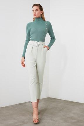 TRENDYOLMİLLA Mint Kemer Detaylı Pantolon TWOSS20PL0354 0
