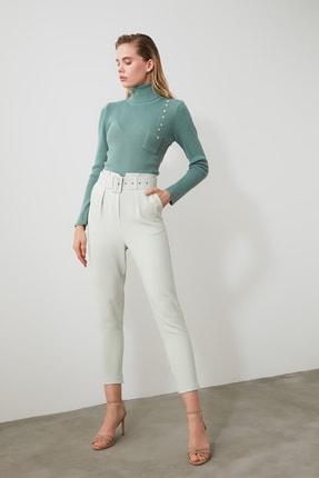 TRENDYOLMİLLA Mint Kemer Detaylı Pantolon TWOSS20PL0354 1