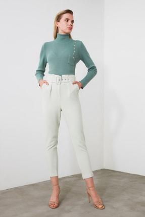 TRENDYOLMİLLA Mint Kemer Detaylı Pantolon TWOSS20PL0354 2