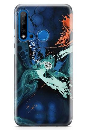 Lopard Huawei Nova 5i Kılıf Hayal Damlaları Arka Kapak Koruma Desenli Full Koruyucu 0