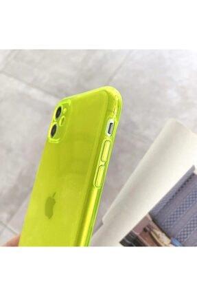 AksesuarLab Iphone 11 Kılıf Kamera Korumalı Kılıf - Sarı 1