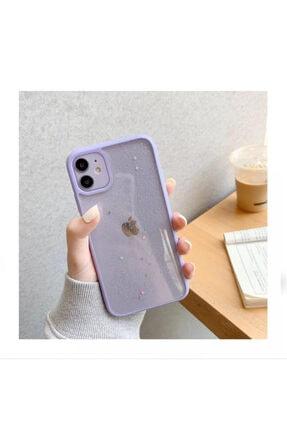 Kılıfsiparis Iphone 11 Kenarı Lila Renkli Simli Darbe Önleyici Silikon Kılıf 1