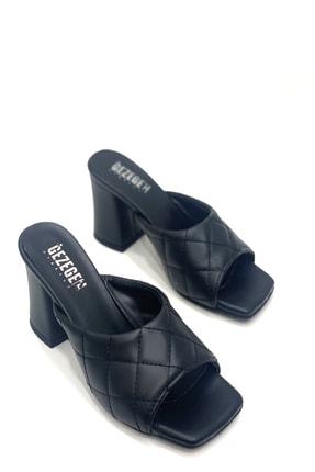 Shoe Miss Siyah Kapitone Terlik 0
