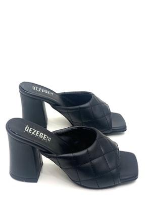 Shoe Miss Siyah Kapitone Terlik 1