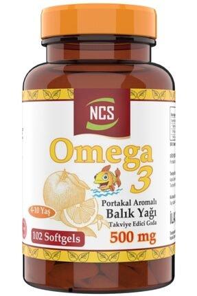 Ncs ® Omega 3 Balık Yağı 500 Mg Epa Dha 102 Softgel Portakal Aromalı Çocuklara Özel 0