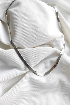 DaisySilver&Bujiteri Yassı Çelik Beyaz Kolye 55 Cm 0