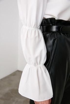 TRENDYOLMİLLA Beyaz Kol Detaylı Gömlek TWOAW20GO0428 3