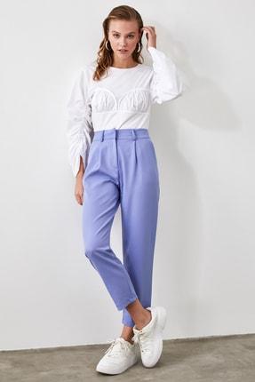 TRENDYOLMİLLA Mavi Kemer Detaylı Pantolon TWOSS19BB0468 0