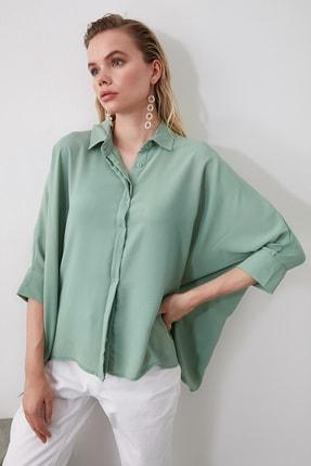 TRENDYOLMİLLA Mint Oversize Gömlek TWOSS20GO0200 1