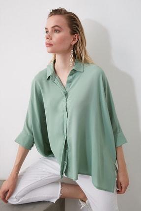 TRENDYOLMİLLA Mint Oversize Gömlek TWOSS20GO0200 2
