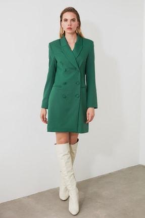 TRENDYOLMİLLA Yeşil Ceket Elbise TWOAW20EL0918 0