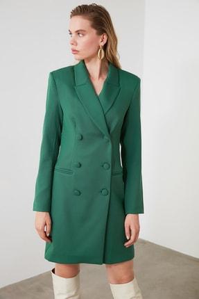 TRENDYOLMİLLA Yeşil Ceket Elbise TWOAW20EL0918 2