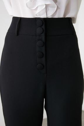 TRENDYOLMİLLA Siyah Düğme Detaylı Cigartte Pantolon TWOSS19WX0086 3