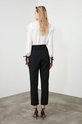 TRENDYOLMİLLA Siyah Düğme Detaylı Cigartte Pantolon TWOSS19WX0086 4