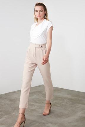 TRENDYOLMİLLA Taş Çıtçıtlı Havuç Pantolon TWOSS20PL0131 0