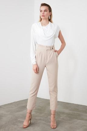 TRENDYOLMİLLA Taş Çıtçıtlı Havuç Pantolon TWOSS20PL0131 2