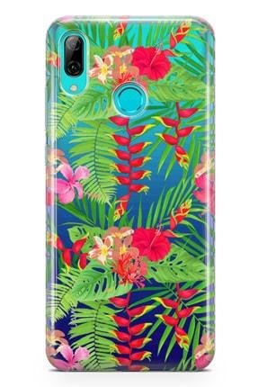 Lopard Huawei P Smart 2019 Kılıf Hatmi Çiçeği Arka Kapak Koruma Desenli Full Koruyucu 0
