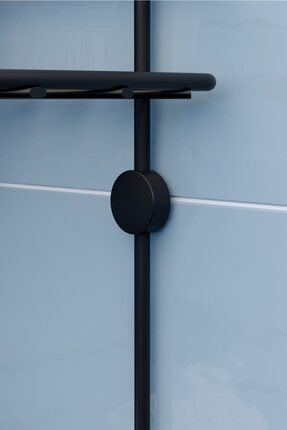 Teknotel Siyah Üç Katlı Kancalı Maxi Boy Banyo Köşe Rafı Mat Bk053h 2