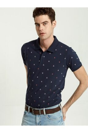 Ltb Erkek  Lacivert Polo Yaka T-Shirt 012198435060890000 0