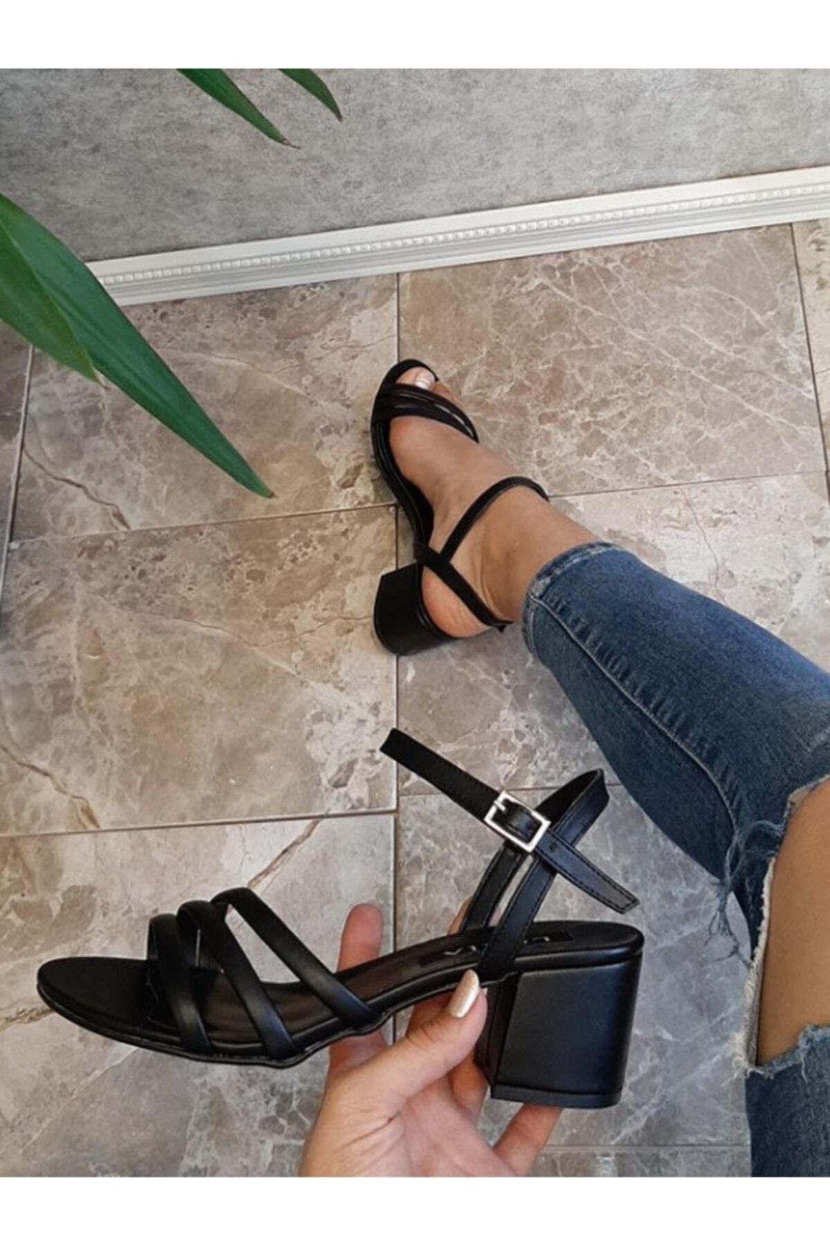 LORİA Siyah Kadın Sandalet