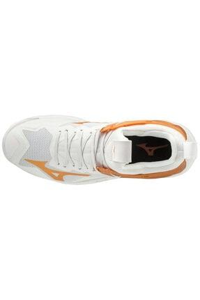 Mizuno Wave Mirage 3 Unisex Hentbol Ayakkabısı Beyaz/sarı 2