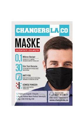 CHANGERSLA Gümüş Iyonlu Yıkanabilir Bez Maske 1