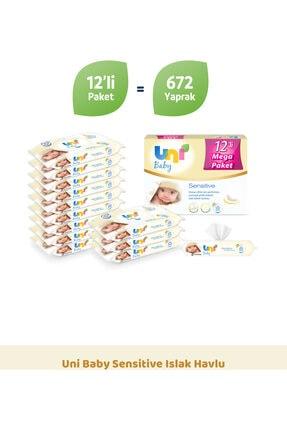 Uni Baby Sensitive Islak Havlu - 12'li Fırsat Paketi 1