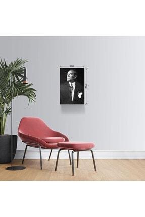 BASKIVAR Istikbal Göklerde Siyah Beyaz Atatürk Portre Dikey Kanvas Tablo - Tablo - Ata-102 0
